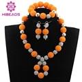 Pretty orange bolas collar de la joyería pendientes de la pulsera de la joyería para niños niños chicas regalos envío gratis we004