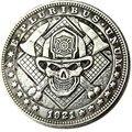 HB (90) Hobo Nickel сша Морган доллар 1921 Череп Зомби Скелет Творческий копия монеты - фото