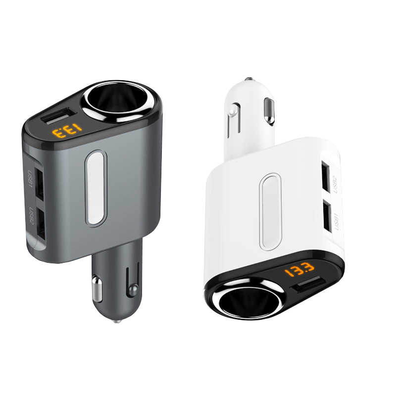 Universal 3 Port usb Car Charger 5V 3.1A 1 Way Car Cigarette Lighter Socket Spiltter Charger DC 12V -24V Car Voltage Diagnostic