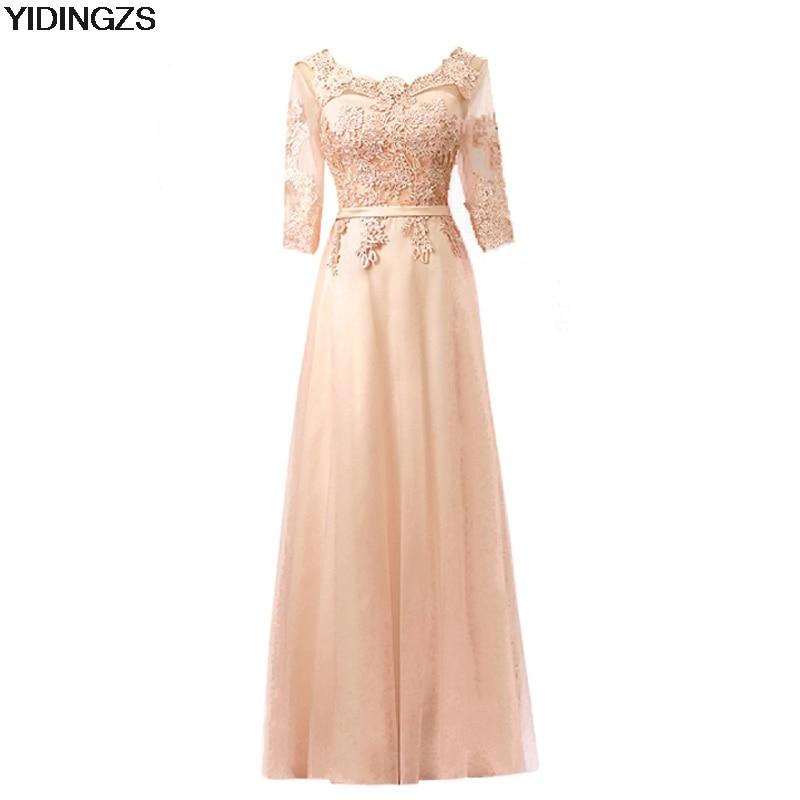 yidingzs elegant red long bridesmaid dresses appliques lace wedding party dress under 50china