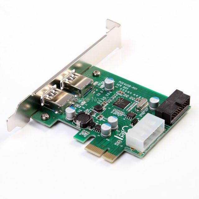 Pci Express para USB3.0 conversor adaptador conector 2 portos HUB SATA 5 Gbps 19 pino 4 pino de