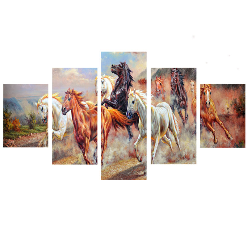 Online Buy Wholesale running horses painting from China ...