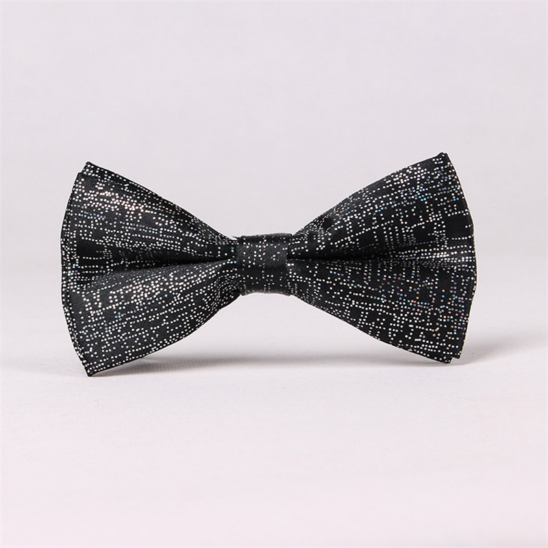 TagerWilen Shiny Polyester Silk Bow Tie Bowtie Handmade Sequins Rhinestone Bowknot Ties For Wedding Groom For Men T-119