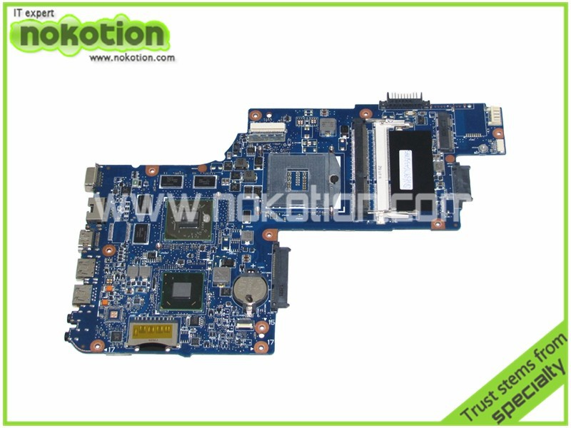 NOKOTION laptop motherboard for toshiba C850 L850 HM76 7600M 216-0833000 DDR3 Mainboard full test монитор dell 17 e1715s tft tn 1715 8107