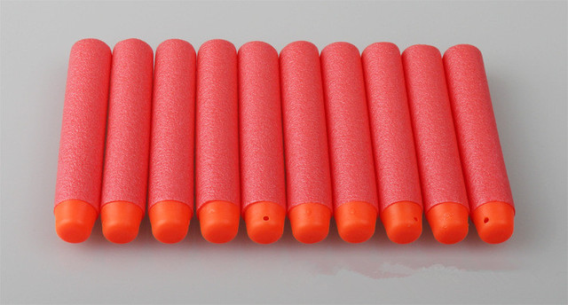 100PCs Soft Hollow Hole Head 7.2cm Refill Darts Toy Gun Bullets for Nerf Series Blasters Xmas Kid Children Gift-A