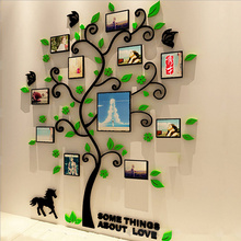3 Size Colorful Multi-Pieces Tree Photo Frame 3D Acrylic Decoration Wall Sticker DIY Wall Poster Home Decor Bedroom Wallstick все цены