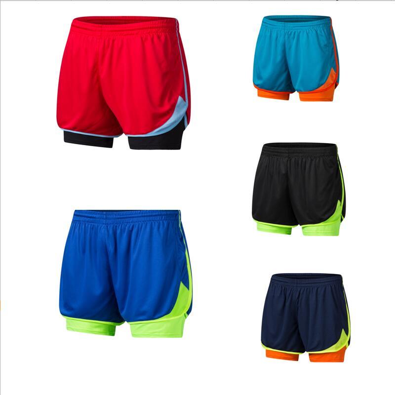 New 2 In 1 Men Marathon Running Shorts Jogging Sports Shorts Training Shorts Sport Homme Pantalones Cortos Deportivos Hombre