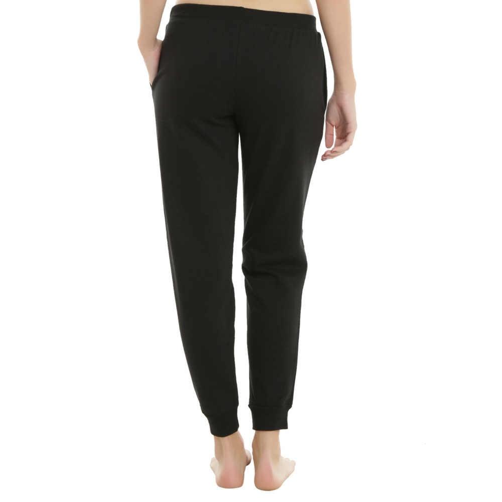2019 зимние Хлопковые Штаны с высокой талией, женские теплые длинные штаны с принтом, Лоскутная передняя повязка, повседневные тренировочные брюки-карандаши, большие размеры