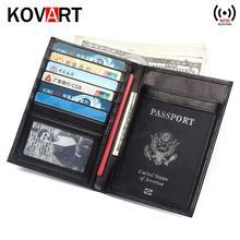 Многофункциональный Rfid Блокировка натуральная кожа Обложка для паспорта кожаный кошелек модный держатель для карт чехол держатель для паспорта сумка для денег