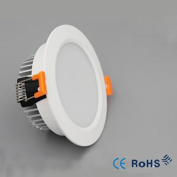 Super jasne Led downlight światło punktowe 9w oświetlenie wewnętrzne 5w 7w 12w oprawa sufitowa lampy wpuszczone światło punktowe światło punktowe biała obudowa tanie i dobre opinie HKOSM Pokrętło przełącznika 220 v Foyer ROHS WHITE Aluminium