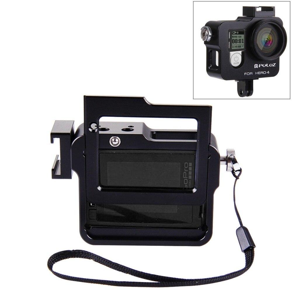 PULUZ pour GoPro Accessoires Logement Shell En Alliage D'aluminium De Protection Cage avec cadre UV filtre & Lens Cap pour GoPro HERO4 HERO 4
