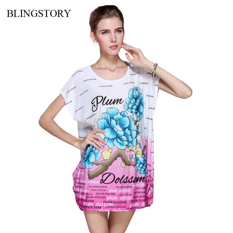 20321dcf74c975 Hot sprzedaż krótki rękaw lato odzież kobiety Lady Fashion Flower topy  Batwing luźne T shirty WY106