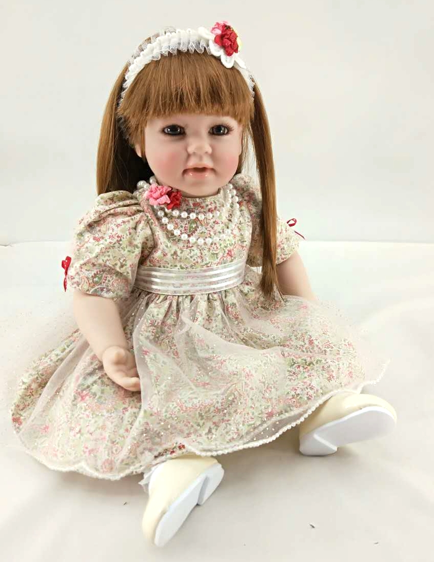 50cm Silicone Reborn Babies Doll Toys Lifelike Vinyl Lovely Smile Princess Toddler Doll Kids Birthday Present Girl Brinquedos 50cm silicone reborn babies doll toys lifelike vinyl lovely princess toddler doll kids birthday gift child girl brinquedos