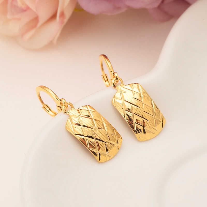 Gold geometrische ohrhänger Äthiopischen/Nigeria/Kenia/Ghana Gold farbe Dubai afrikanischen Arabischen Nahen Ostens Schmuck Mom geschenke