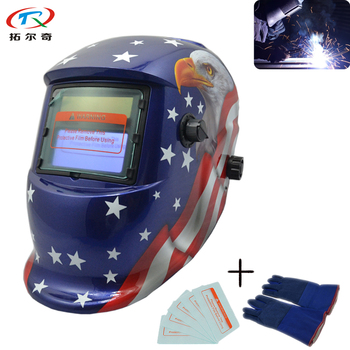 PCB Electric Mask Tig Welding Helmet Mig Soldering Mascara CE Appproved High Quality American Star Fast Shipping TRQ-HD71-2233DE image