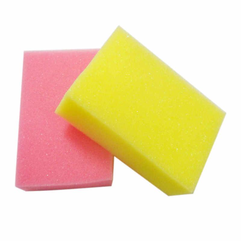 ¡Nuevo! 1 Uds. De esponja de microfibra para limpiar el coche, cepillo de mantenimiento de múltiples colores, accesorios de estilismo para el coche