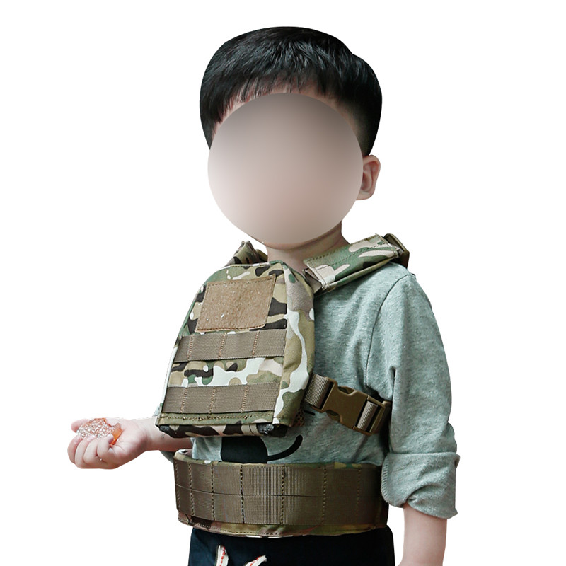 2-6 Years Old Children Outdoor Summer Camping CS Field Protect Tactical Vest Kids Sports Training Paintball Camouflage Waistcoat