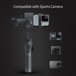 Image 5 - Funsnap Caputure 2 Smartphone 3 Axis Gimba eylem kamera Gimbal IOS android için Gopro 7 6 5 EKEN Yi Gimbal kiti ile LED mikrofon