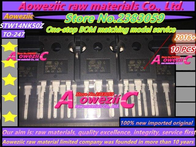 Aoweziic 2016 + 100% nouveau importé original STW14NK50 STW14NK50Z TO 247 FET 550 V 14A