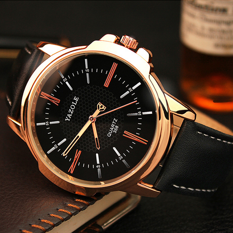 YAZOLE Men Clock Rose Gold Watch Men 2017 Top Brand Luxury Famous Golden Wrist watch Male Clock Quartz Watch Relogio Masculino