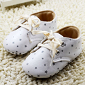 2016 new white lace-up winter baby Pu leather infant boots first walkers Baby Moccasins Newborn princess baby shoes