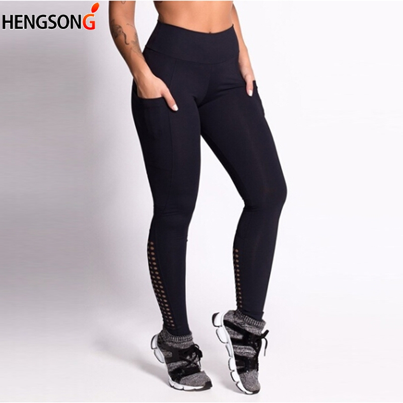 6eff4f08637c01 Women Sport Fitness Legging Elastic Skinny Hollow