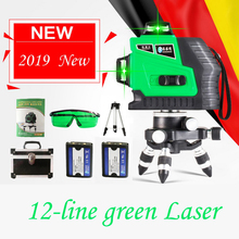 New 3D 12 Lines Red Green Laser Level Powerful Beam with Lithium battery  Self-Leveling 360 4 Horizontal And 8 Vertical Cross zokoun 3 x 360 3d green beam lines laser level with 5200mah lithium battery and horizontal and vertical lines working separately