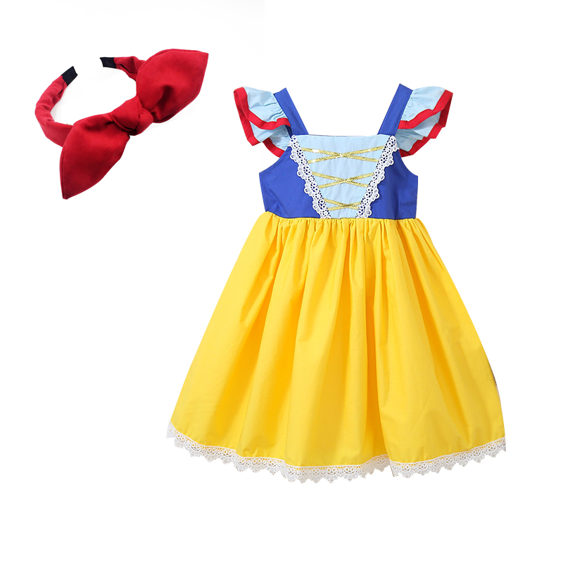 summer Princess Snow White Dresses Girls Baby kids Halloween Party Costume Children Clothing sleeveless Clothes cotton dresssummer Princess Snow White Dresses Girls Baby kids Halloween Party Costume Children Clothing sleeveless Clothes cotton dress