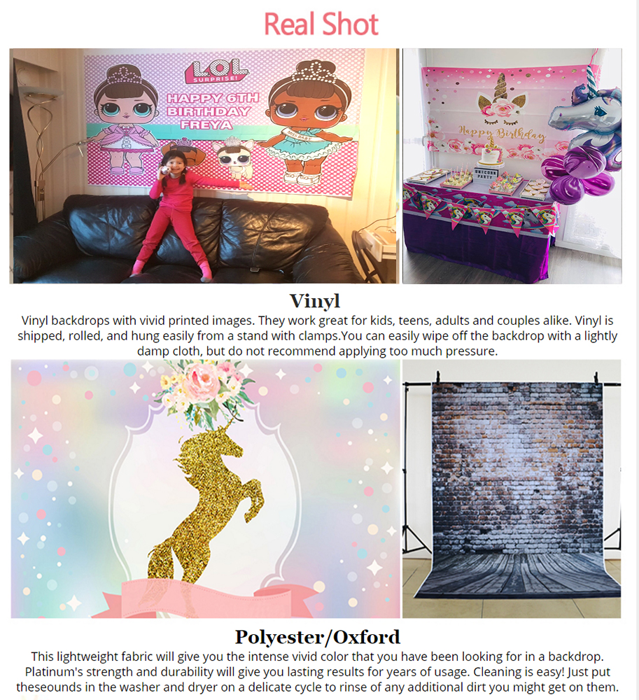 Little Mermaid Birthday Party Photography Backdrop Mussel Pearls Girls Baby Shower Table Banner Backgrounds Photocall