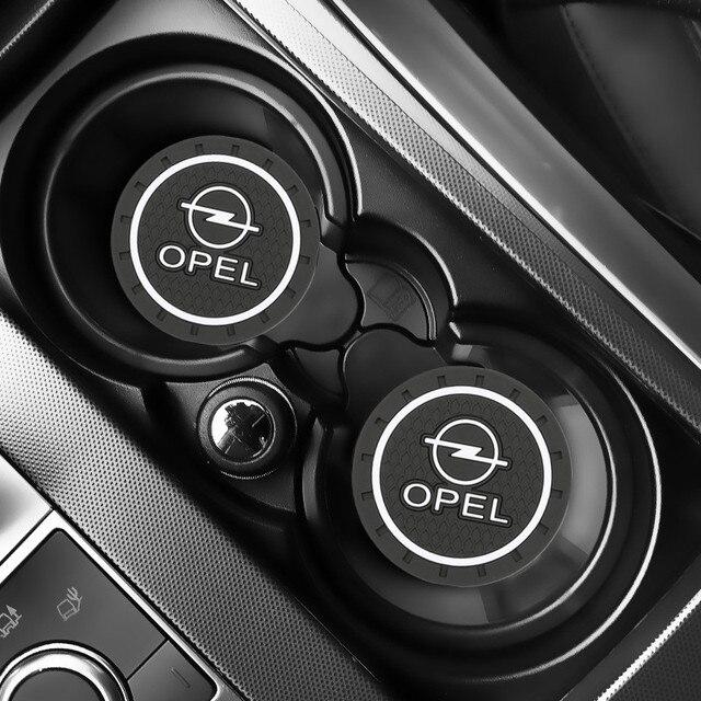 2PCS Car Water Cup Bottle Holder Anti slip Pad Mat Silica Gel for OPEL Corsa Insignia Astra Antara Meriva Zafira Accessories