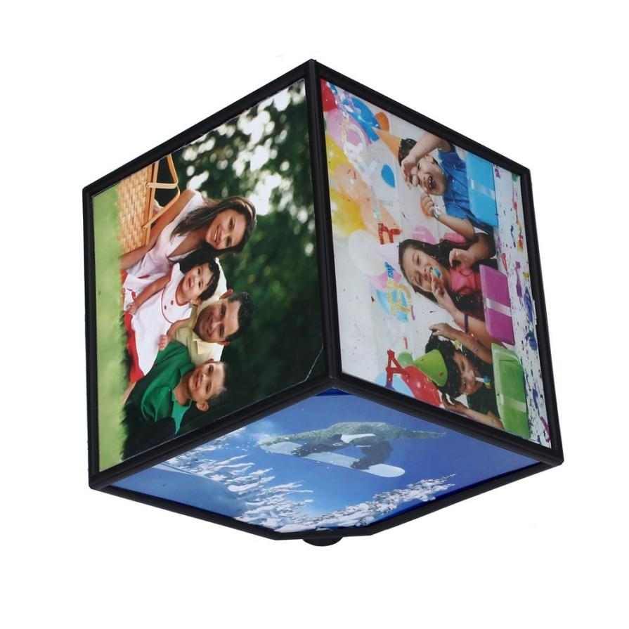 Good 360 Rerating Photo Frames Revoling Multi Picture Cube Black Home Decor Family Nov 25 Free Shipping Worldwide