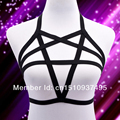 2016 New  Free Shipping pastel goth Pentagram Harness harajuku sexy lingerie harness bra  Body Cage bra Bondage 02