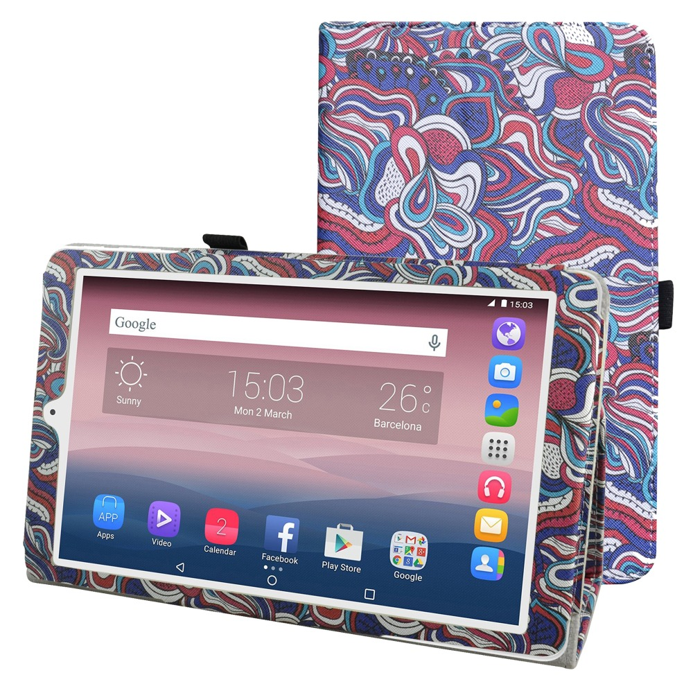 New Folio Stand Cover Flip PU Leather Shockproof  Case For 10.1 Alcatel One Touch Pixi 3 10 Tablet 2016