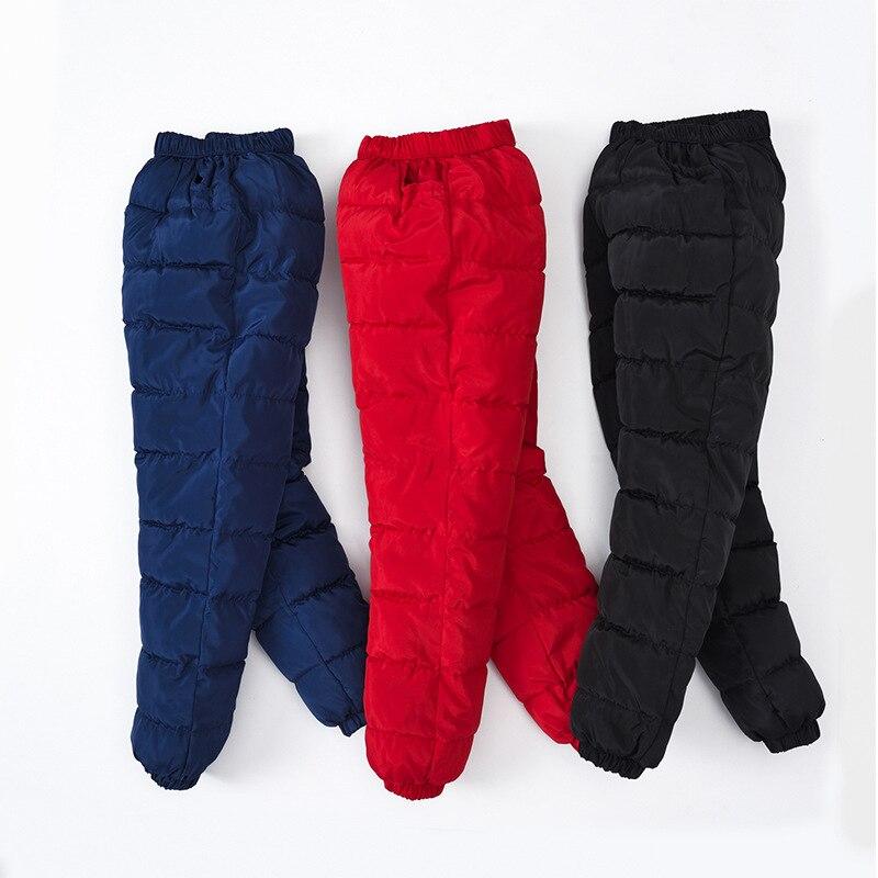 Nouveaux pantalons coupe-vent d'hiver pour filles et garçons, pantalons chauds en velours et en duvet pour enfants