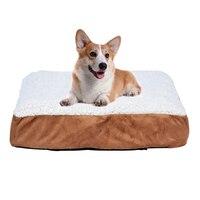 Shellhard Pet Dog Cat Orthopedic Bed Cushion Mat Pad Kennel Crate Cozy Soft Foam Pet Cage