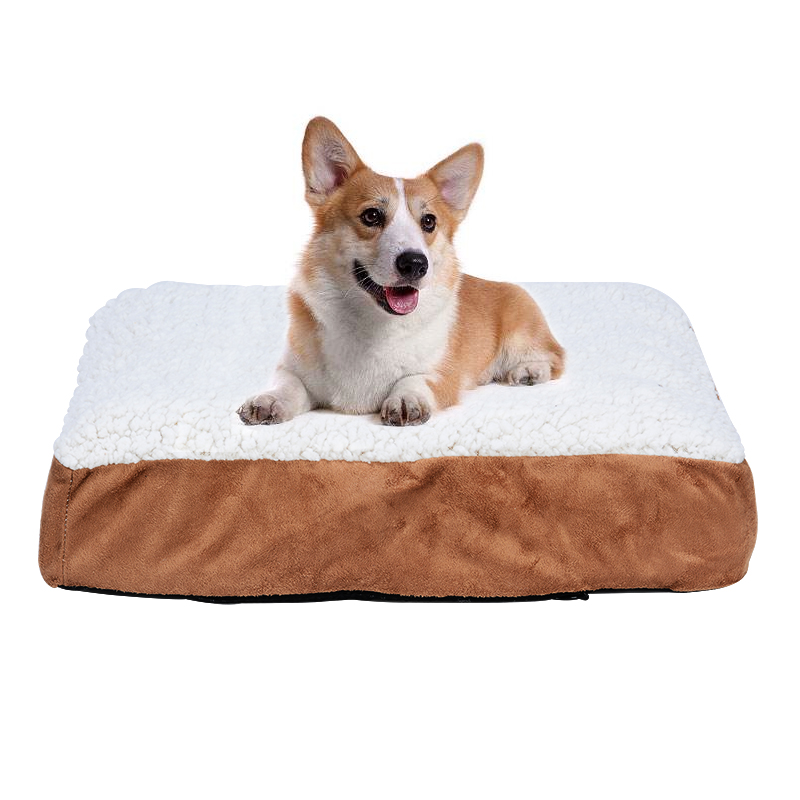 Shellhard Pet Dog Cat Orthopedic Bed Cushion Mat Pad Kennel Crate Cozy Soft Foam Pet Cage Mat accessory