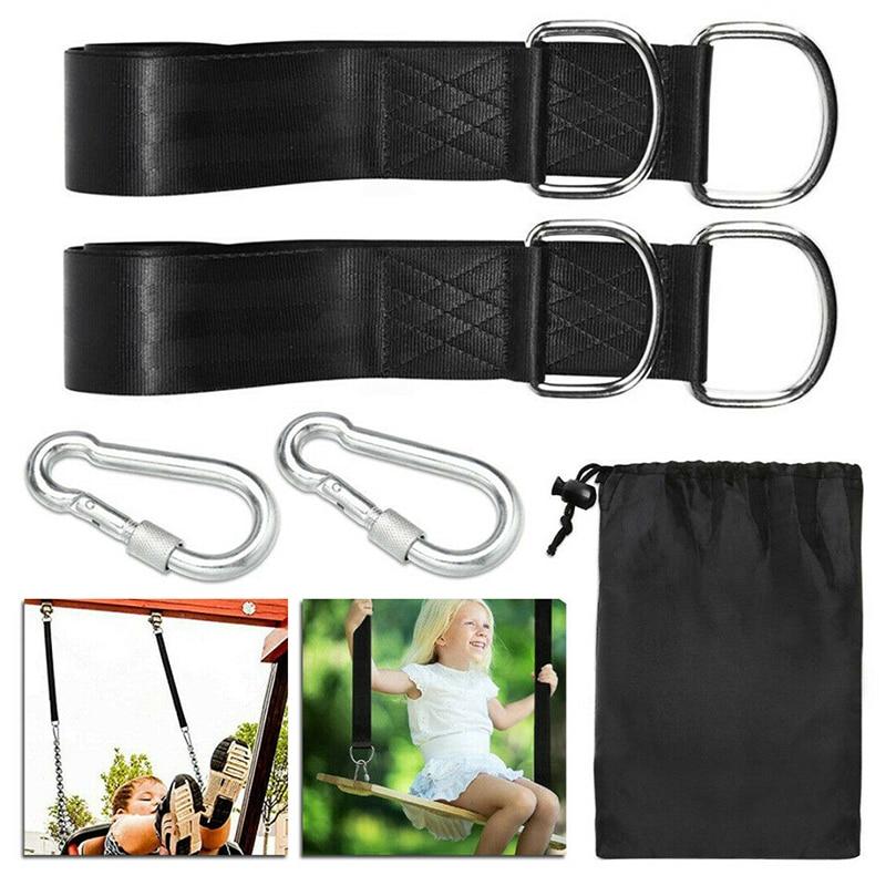 Durable Tree Swing Hanging Kit Hammock Straps Rope Carabiner 350 KG Load Capacity OutDoor Camping Hiking Hammock Hanging Belt