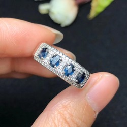 Natürlichen saphir ring, einfache stil, Sri Lanka sapphire, damen ring, 925 silber nach anzahl