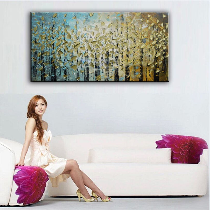 100 hand painted oil painting Home decoration high quality canvas Abstract font b knife b font