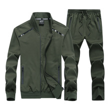 9XL Spring Autumn Men Sportswear Tracksuit Zip Jacket Coat Sweatshirt+pant Running Jogger Casual Fitness Outfit Set Sport Suit