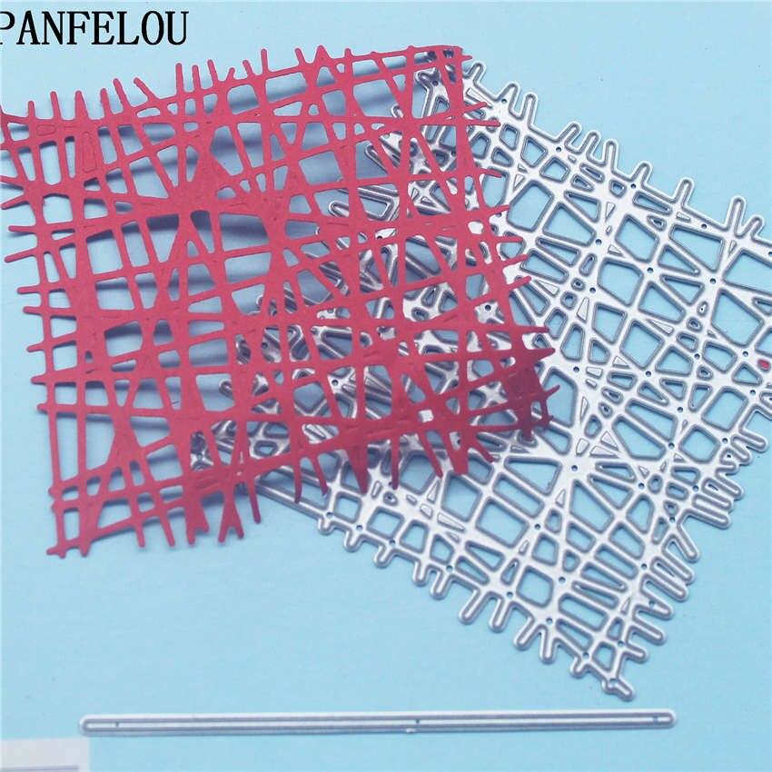 PANFELOU линия квадратные металлические поделки бумаги высечки для скрапбукинга/Сделай сам свадьба Хэллоуин ручные счета карты