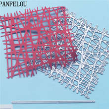 PANFELOU Line square metal crafts paper die cutting dies for Scrapbooking/DIY wedding Halloween Hand account cards(China)