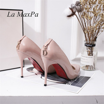 Original Intention Sexy Women Pumps Fashion Pointed Toe Nude Thin High Heel Stylish 4 Colors Shoes Woman Plus US Size 34-41