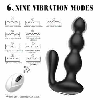 Remote control vibrator 9 mode plug anal vibrators female rechargeable prostata massage sex toys for couples gay sex toys