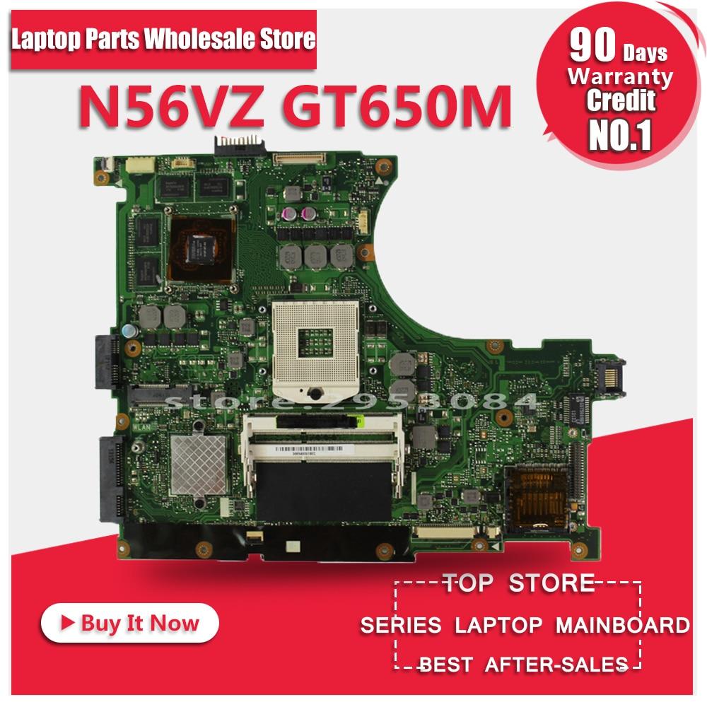 For Asus n56vm Rev 2.3 laptop motherboard Fit N56VM N56VJ N56VZ N56VB non-integrated N13P-GT-A2 GT650M 2GB system motherboard n56vm rev 2 3 laptop motherboard suitable for asus n56vm n56vj n56vz gt630m hm76 system motherboard original new