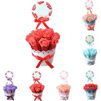 10Pcs Set Rose Flower Baskets Wedding Gifts For Guests Paper Box Diamond Baby Shower Gift Box
