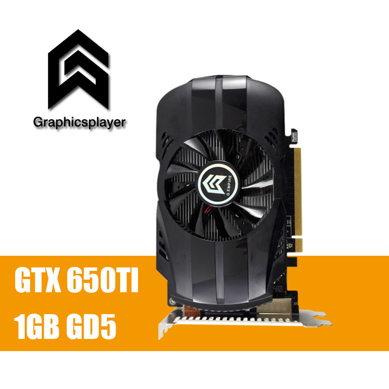 Graphic Cards for pc game GTX 650TI 1GB GDDR5 Tarjeta Grafica Scheda Video Placa De Video Card Carte Graphique VGA for NVIDIA computador cooling fan replacement for msi twin frozr ii r7770 hd 7770 n460 n560 gtx graphics video card fans pld08010s12hh