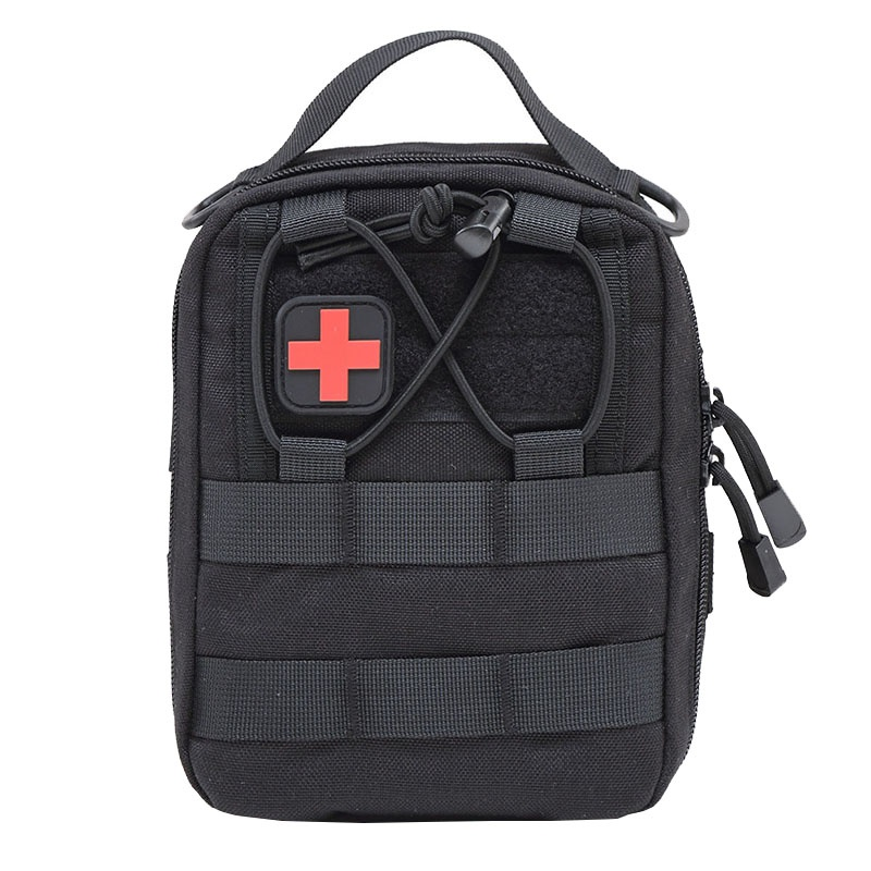 цена Survival kit Camping Emergency Empty Tactical Medical First Aid Kit Military Waist Pack Travel Tactical Molle Pouch Bag