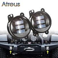 Atreus Car LED Fog Lights 12V For Jeep Wrangler JK 07~14 accessories 1Pair 4 30W High Power Auto car LED DRL Fog Lamp Bulb Kit