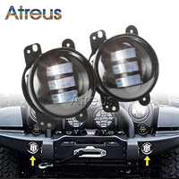 2PCS Pair 4 Inch 30W LED Fog Light For Jeep Wrangler JK 07 14 High Power